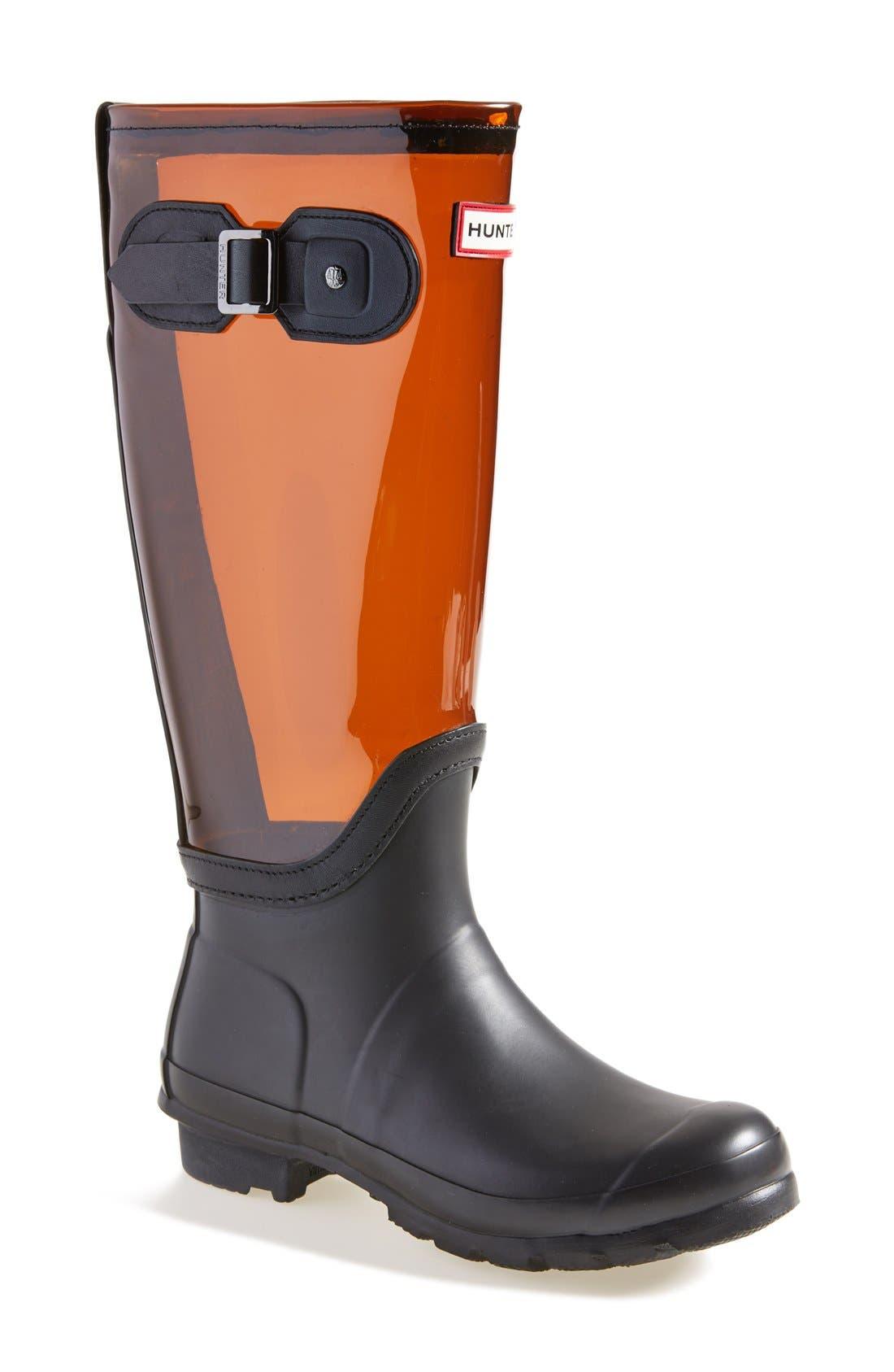 Alternate Image 1 Selected - Hunter 'Original' Clear Waterproof Rain Boot (Women)