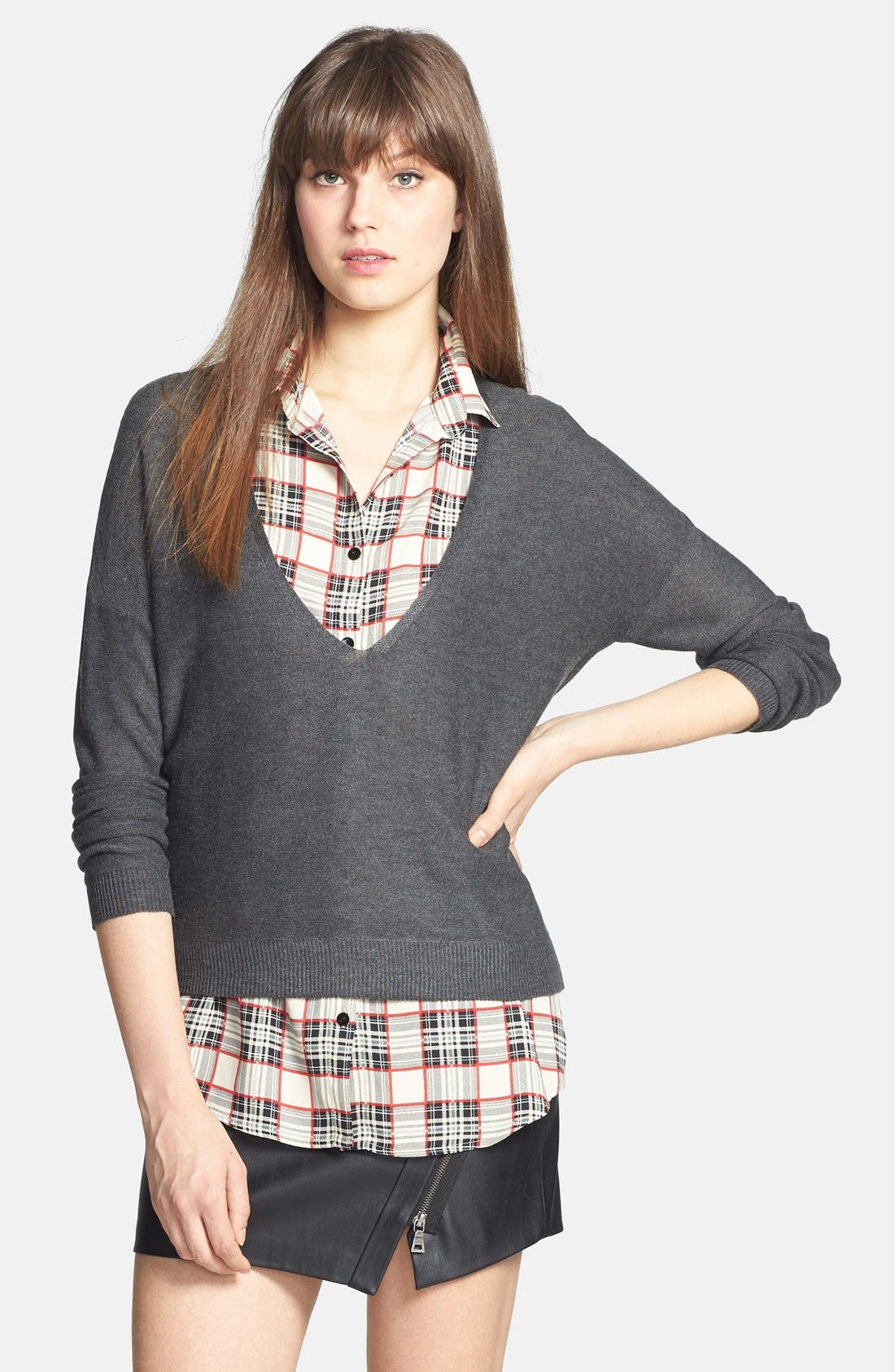 Alternate Image 1 Selected - RD Style Faux Two-Piece Top