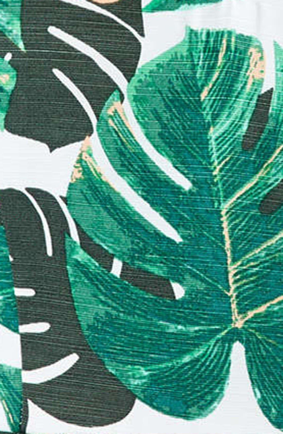 Alternate Image 4  - Topshop Palm Print Notched Neck Romper