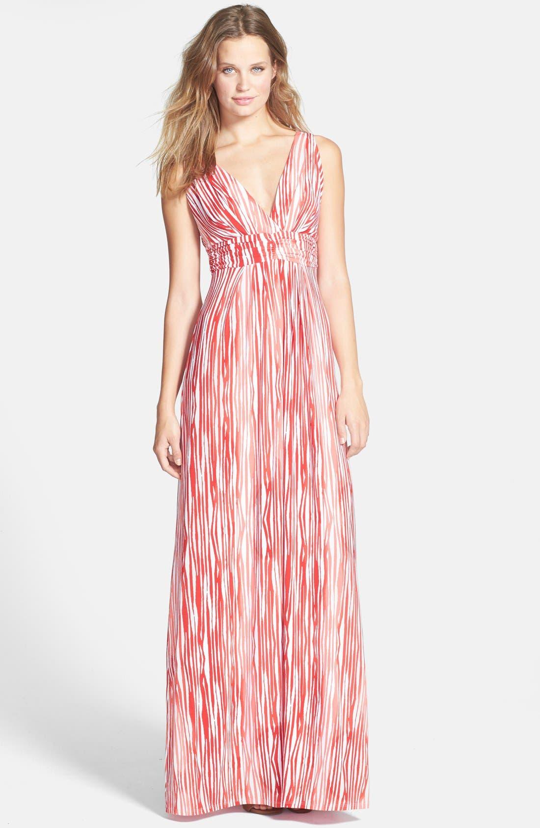 Main Image - Tart 'Adrianna' Surplice Print Jersey Maxi Dress