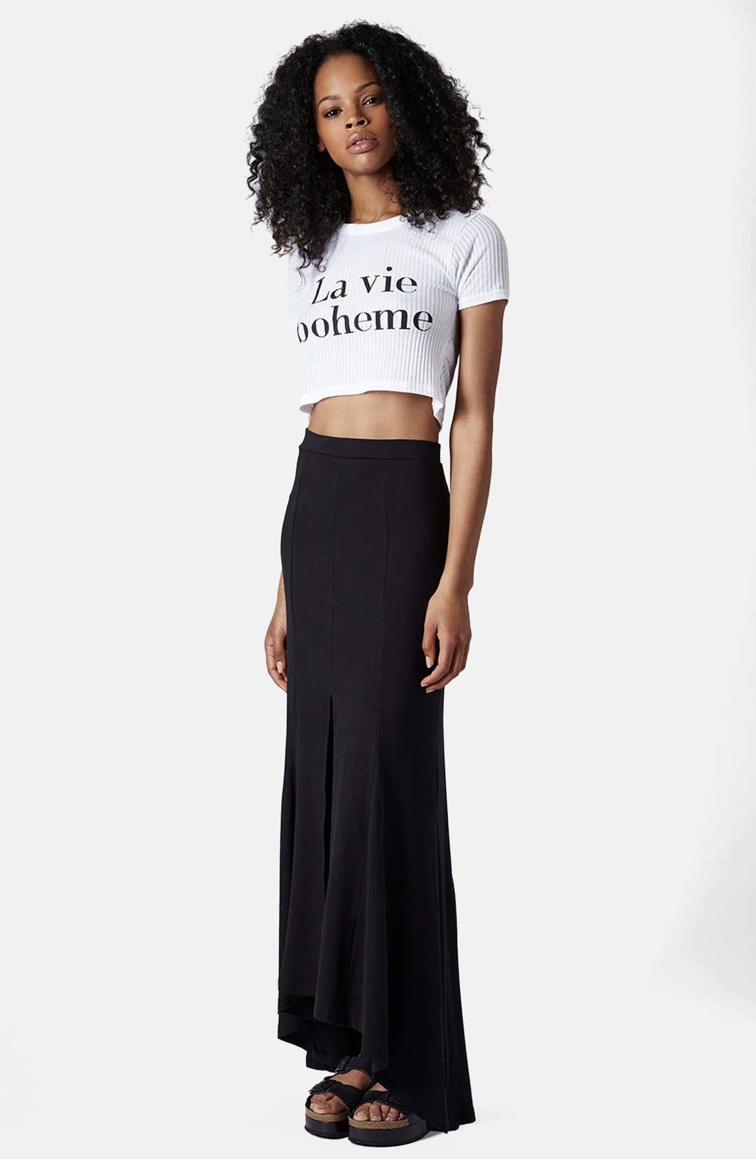 Alternate Image 5  - Topshop 'La Vie Boheme' Ribbed Crop Tee