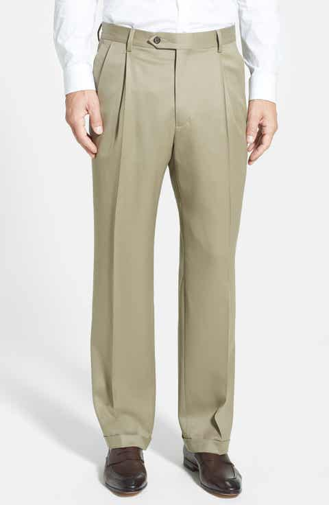 Berle Pleated Wool Gabardine Trousers