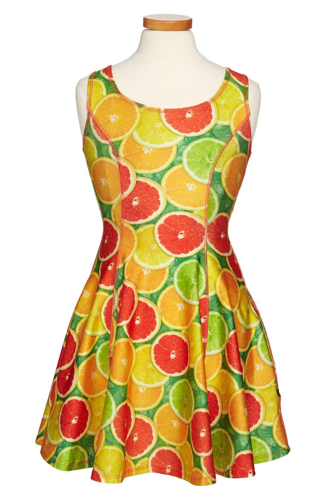 Alternate Image 1 Selected - Terez 'Citrus' Skater Dress (Big Girls)