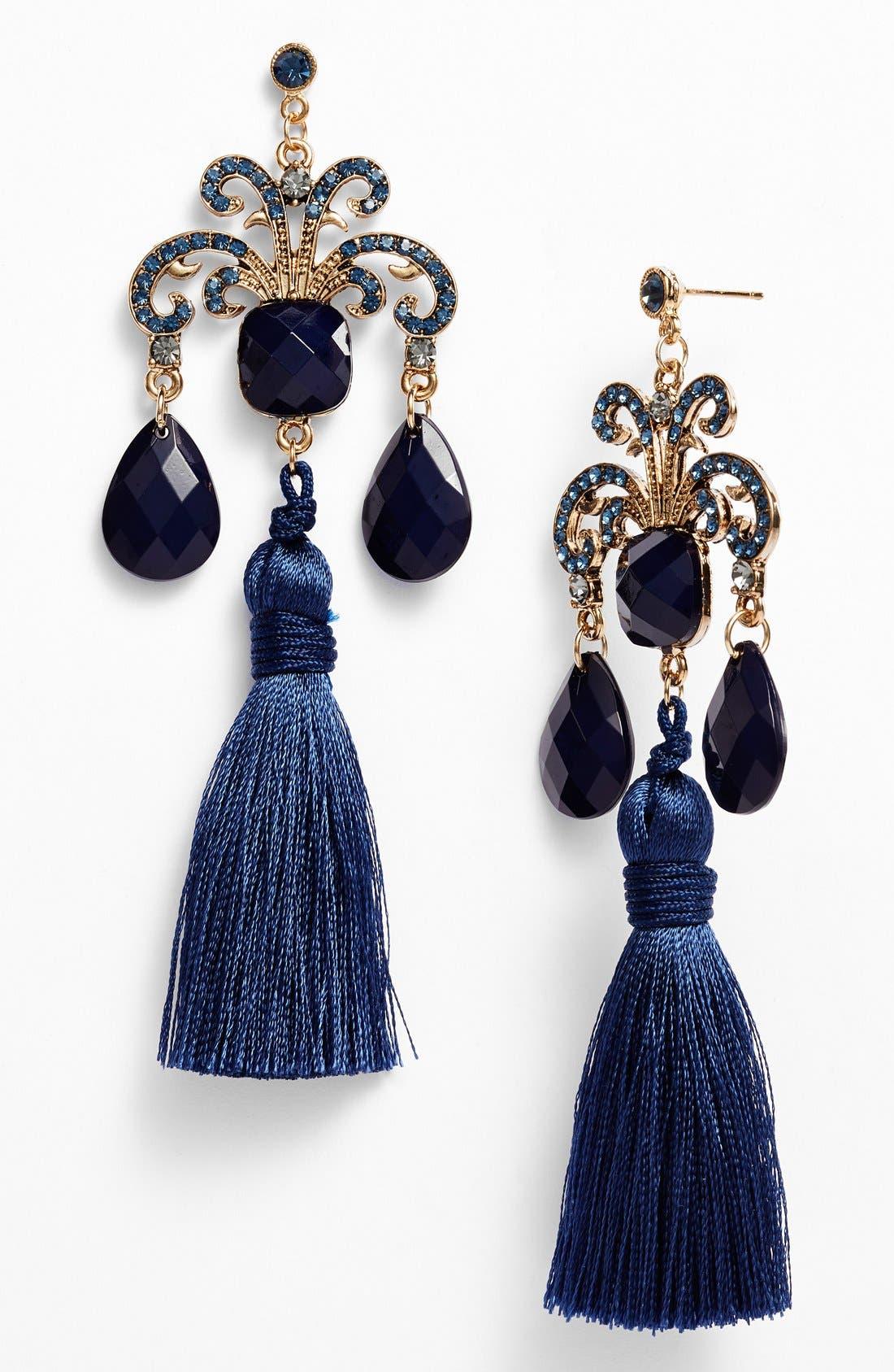 Alternate Image 1 Selected - Tildon Tasseled Drop Earrings