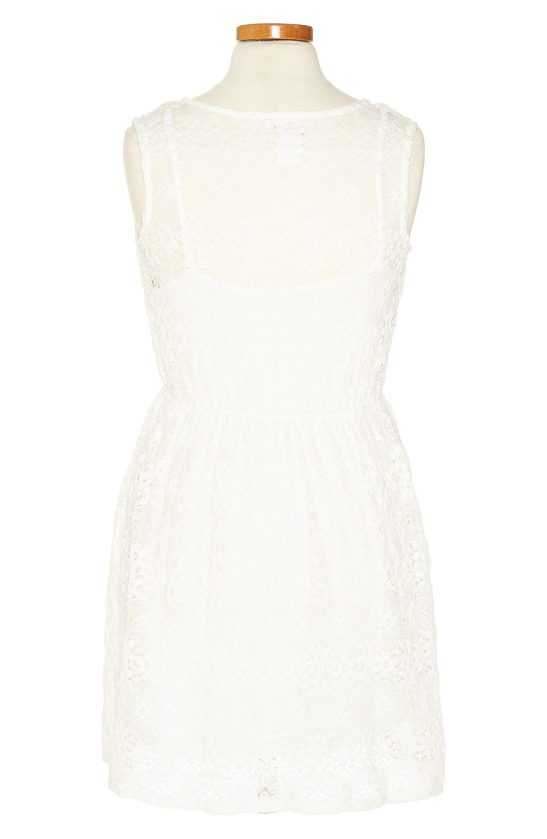 Alternate Image 2  - Kiddo Ivory Lace Dress (Big Girls)