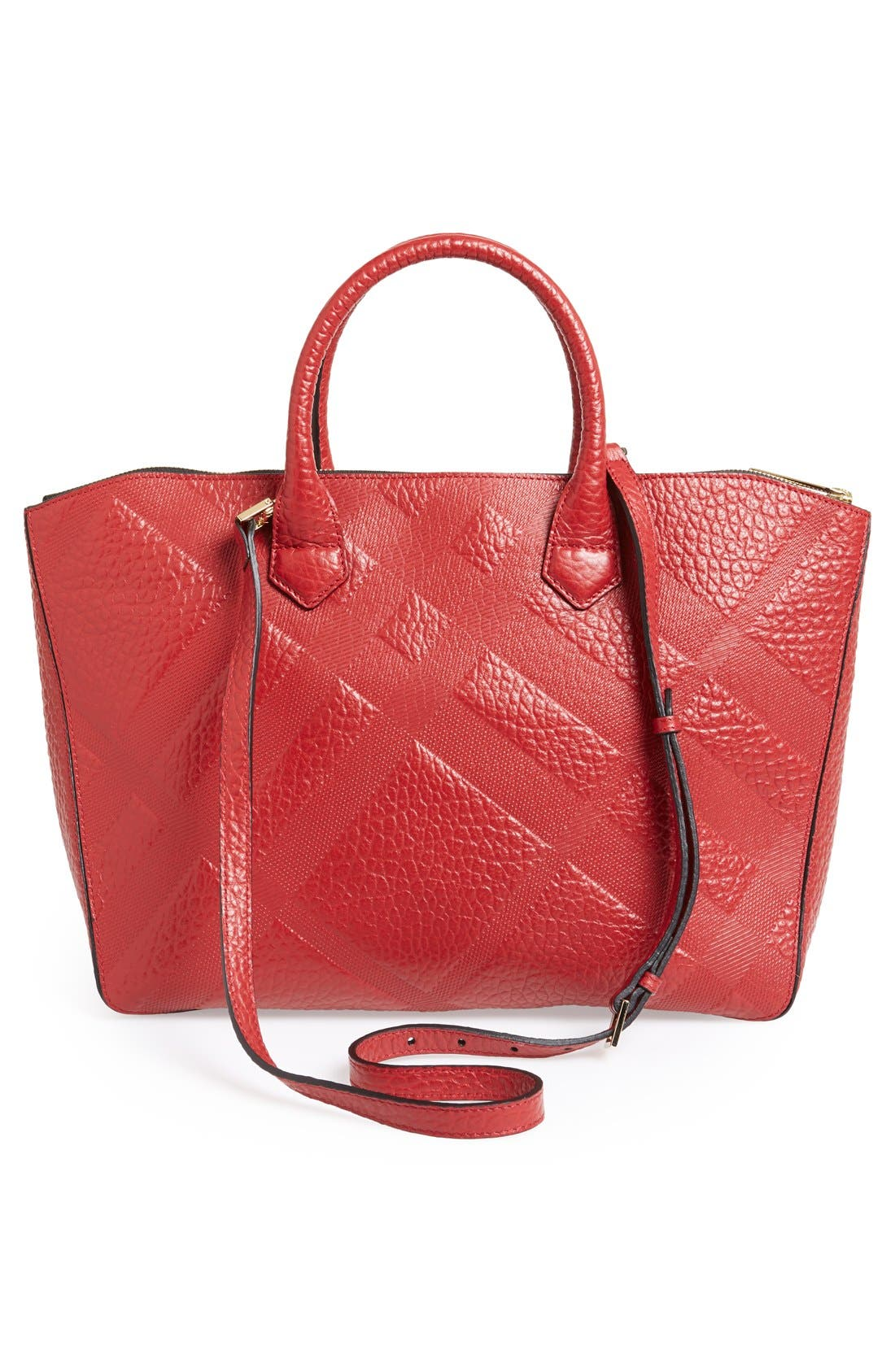 Alternate Image 4  - Burberry 'Medium Dewsbury' Check Embossed Leather Tote