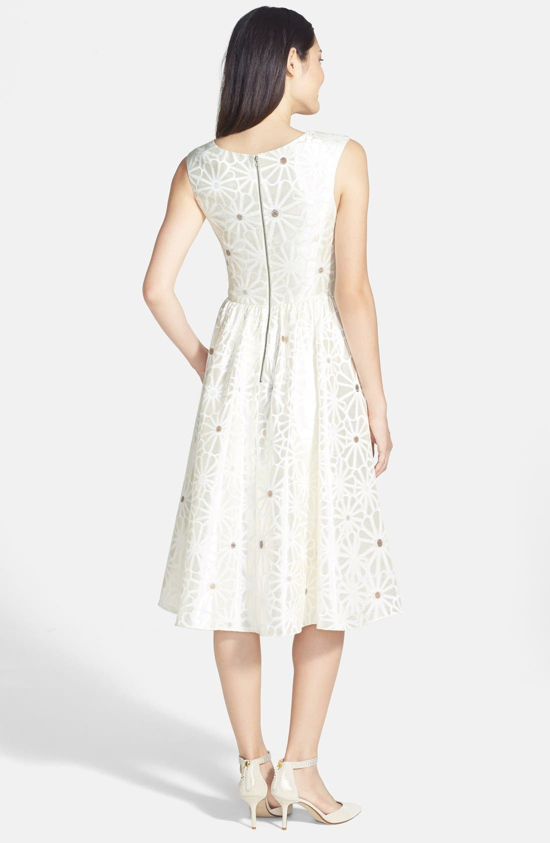 Alternate Image 2  - Mikael Aghal Daisy Brocade Fit & Flare Dress