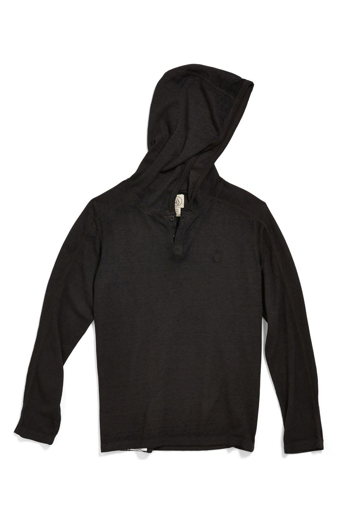 Alternate Image 1 Selected - Volcom 'Burnt' Waffle Weave Hoodie (Big Boys)