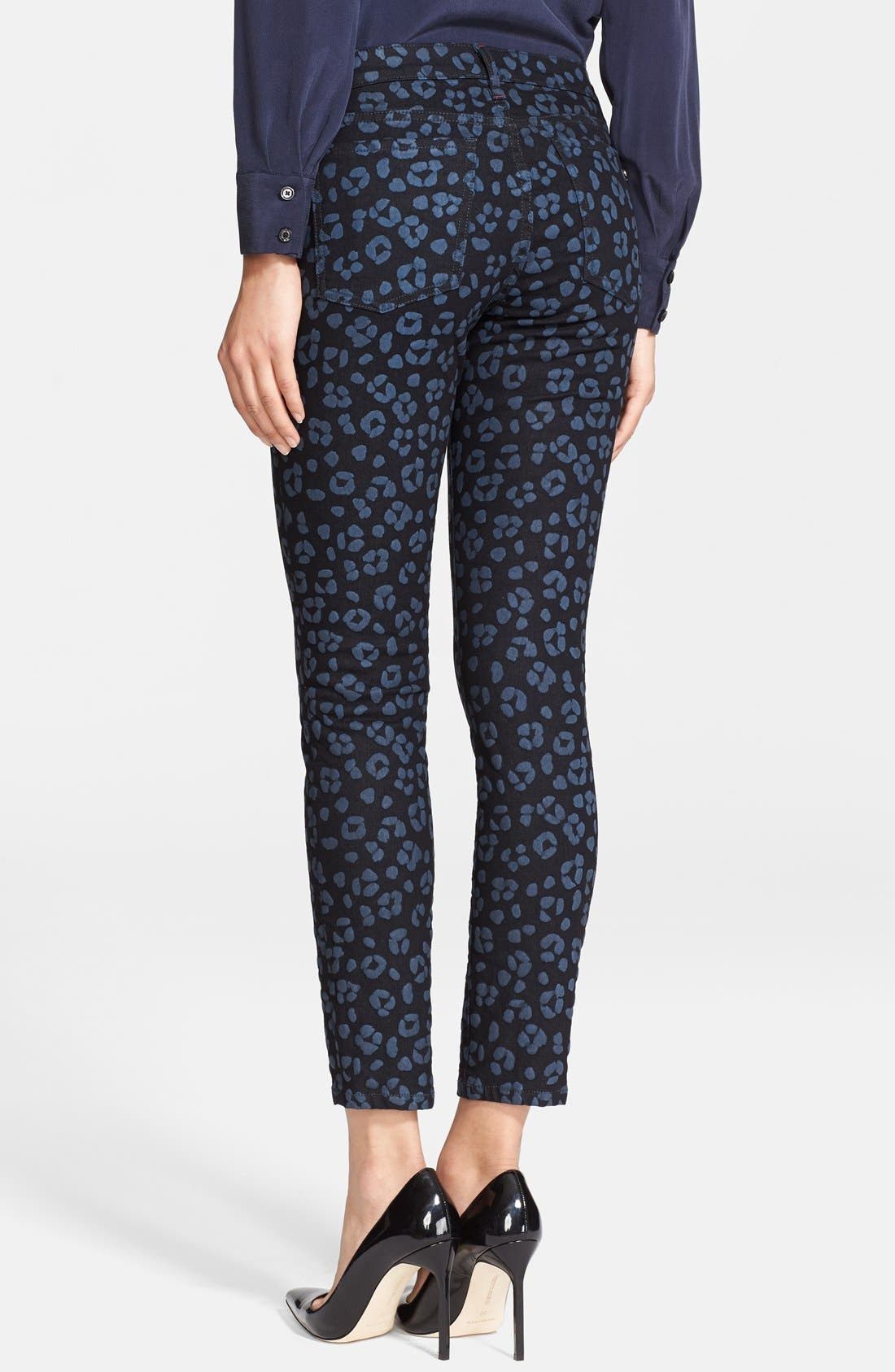 Alternate Image 2  - kate spade new york 'broome street' cheetah print jeans (black)