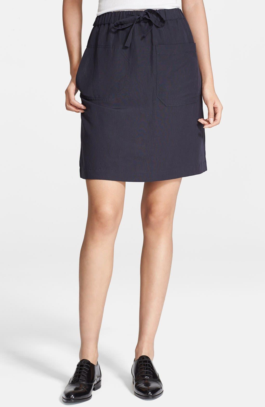 Alternate Image 1 Selected - A.P.C. Drawstring Linen Blend Skirt