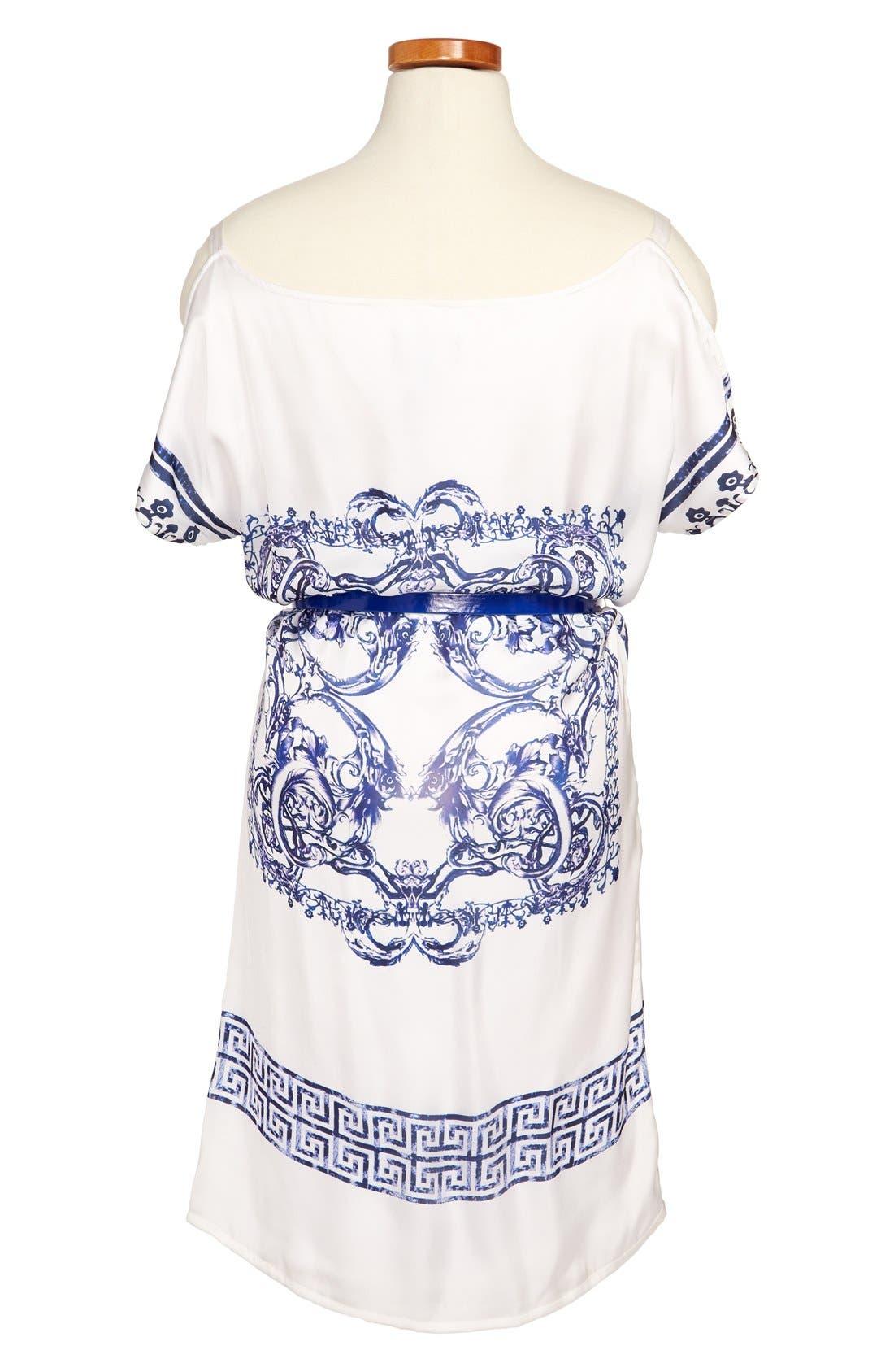 Alternate Image 2  - Laundry by Shelli Segal Print Dress (Big Girls)