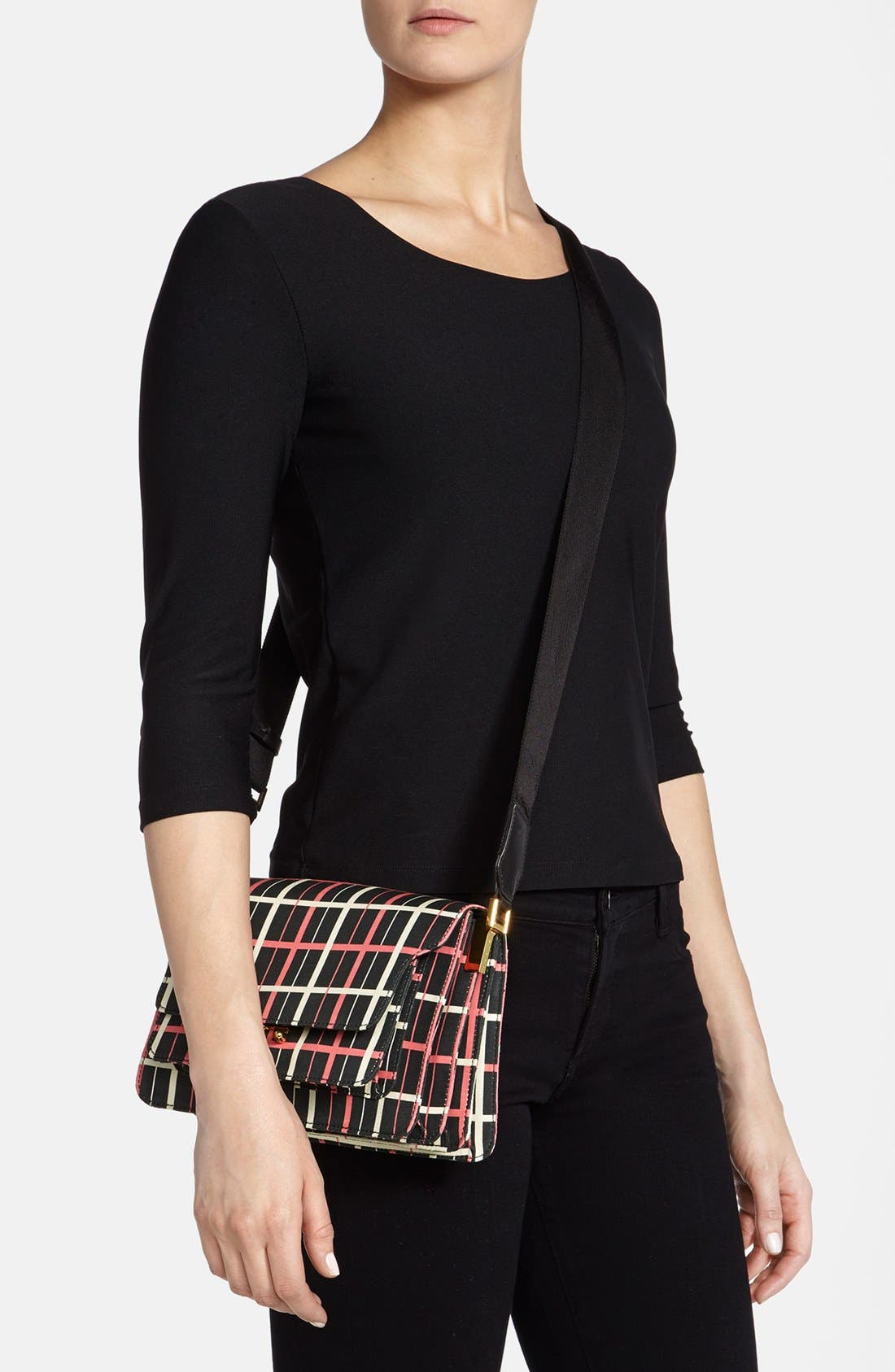Alternate Image 2  - Marni Graphic Print Double Partition Crossbody Bag