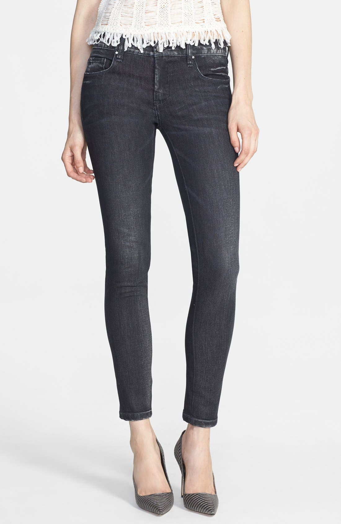 Alternate Image 1 Selected - BLANKNYC Skinny Jeans (Grey Area Anatomy)