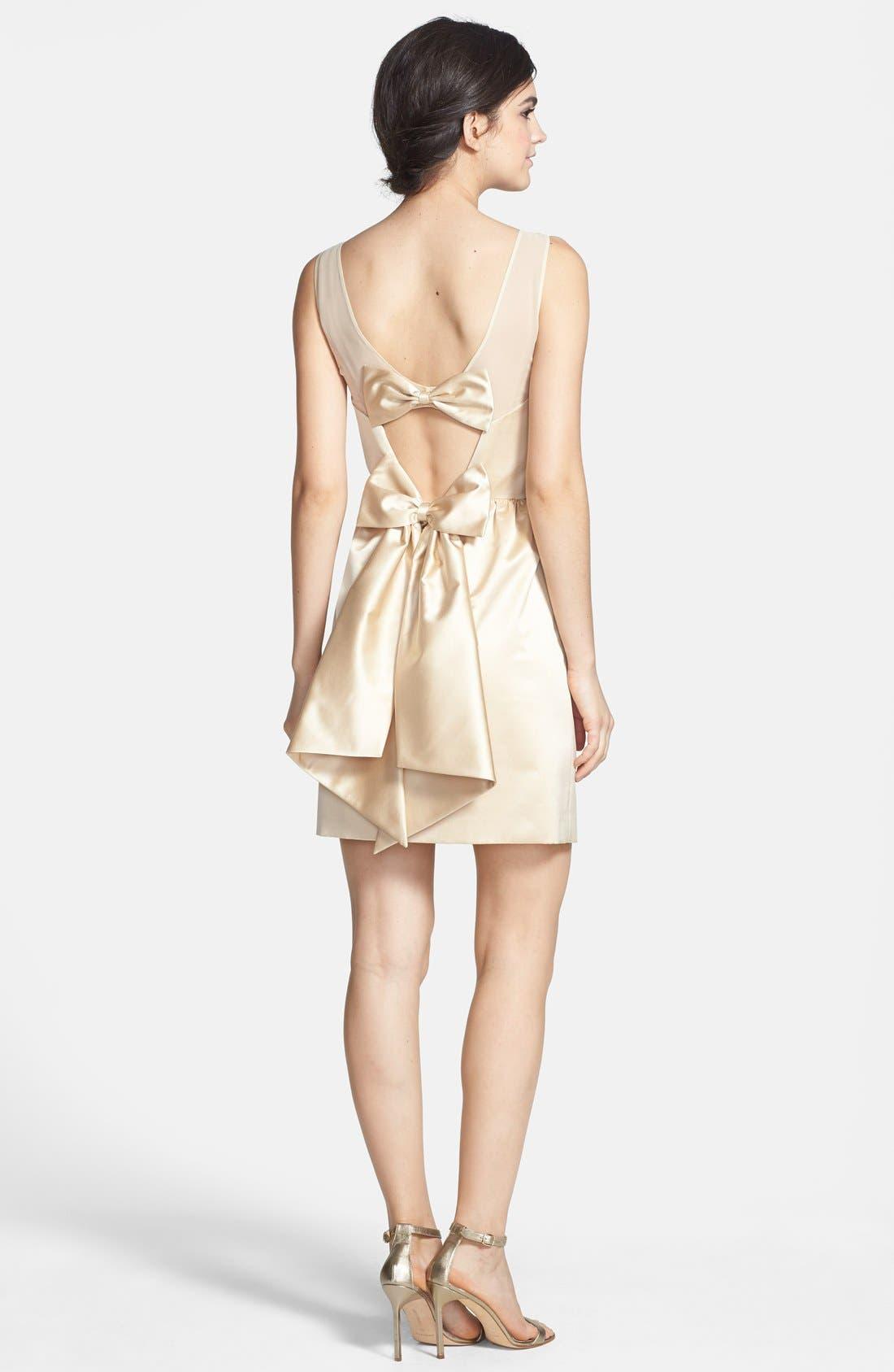 Alternate Image 2  - ERIN erin fetherston 'Winona' Bow Detail Peau de Soie Sheath Dress