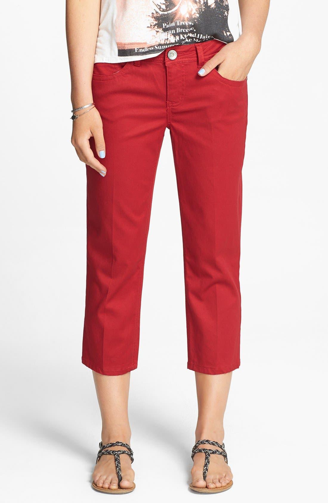 Main Image - Jolt 'Mini' Crop Skinny Jeans (Juniors)