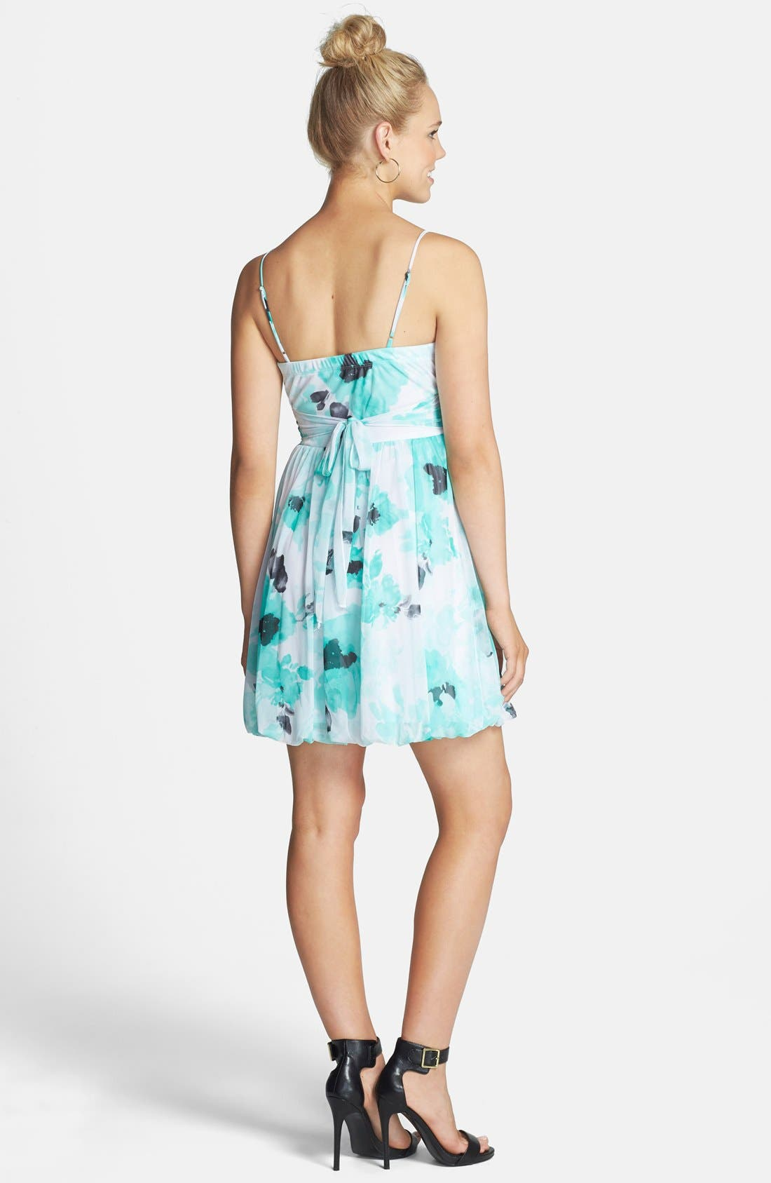 Alternate Image 2  - Speechless Floral Print Ruched Fit & Flare Dress (Juniors)