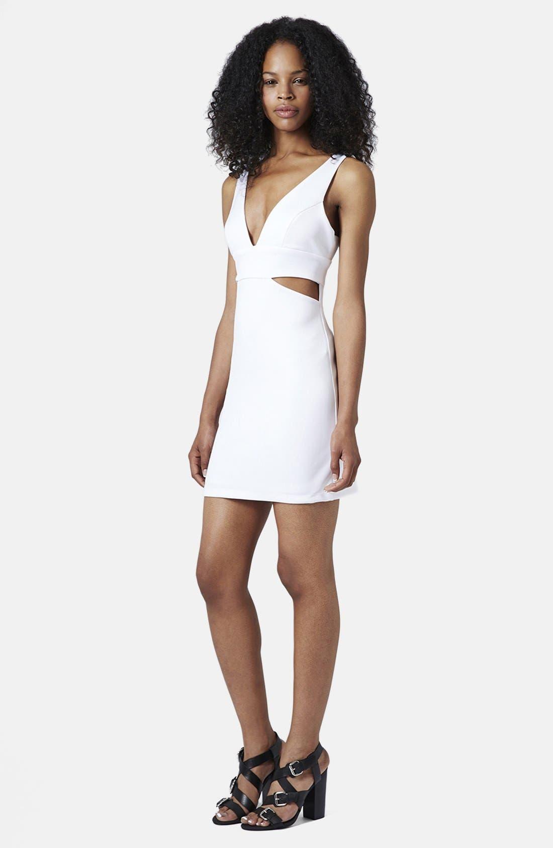 Alternate Image 5  - Topshop Cutout Body-Con Dress (Regular & Petite)