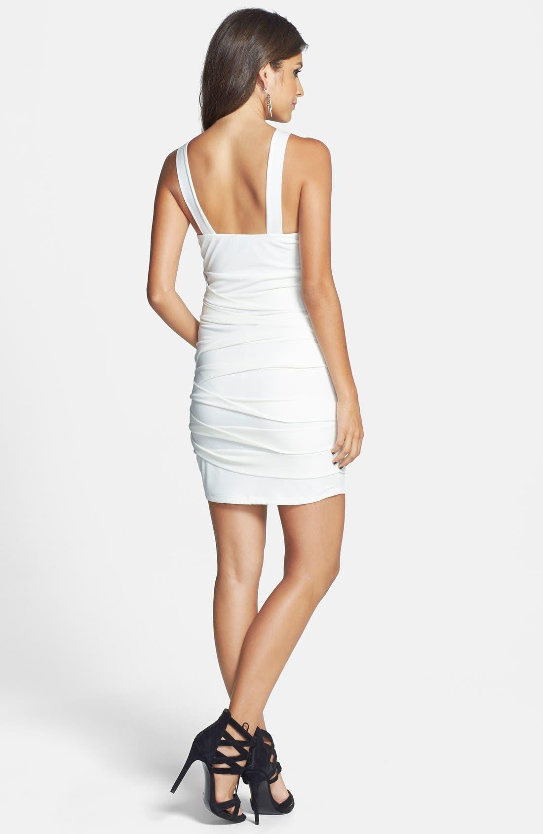 Alternate Image 2  - Way-In Halter Body-Con Dress (Juniors)