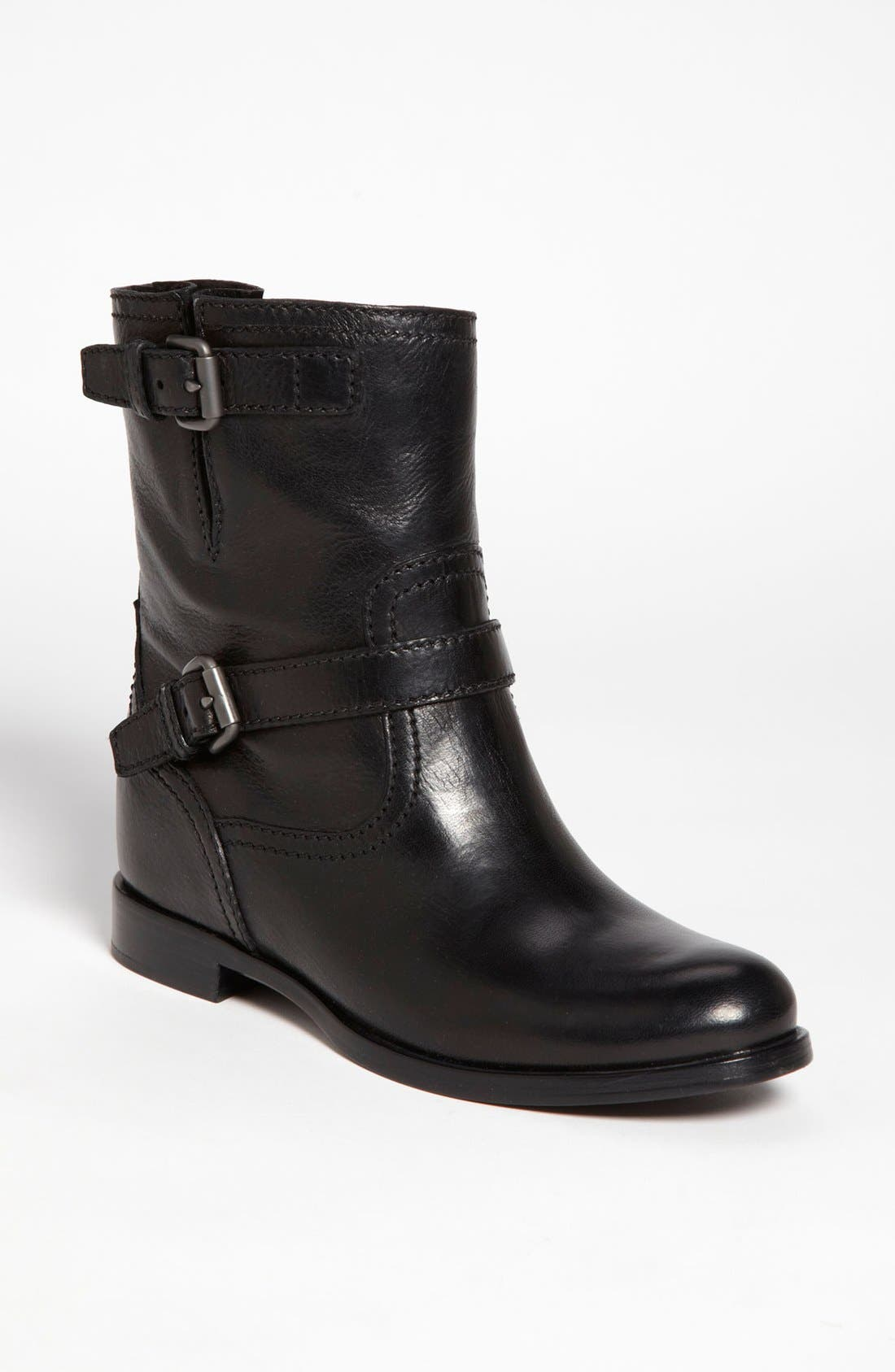 Main Image - Prada Double Buckle Short Boot (Women)