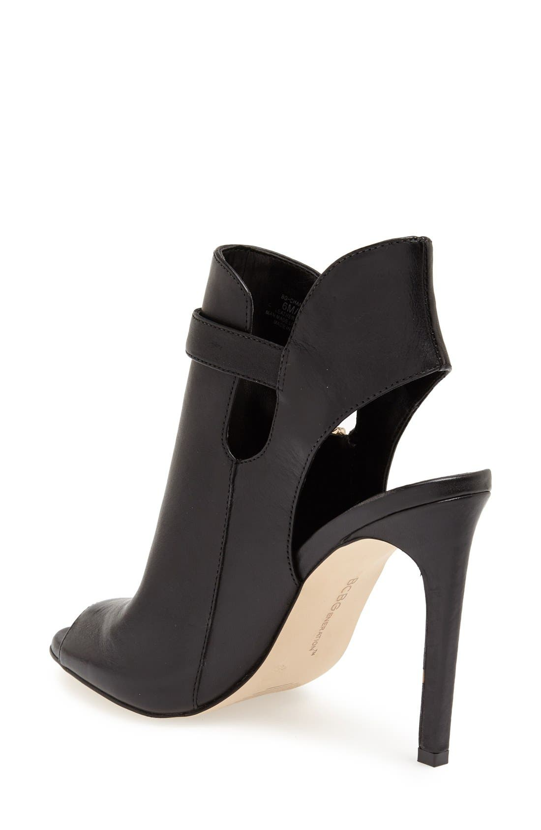 Alternate Image 2  - BCBGeneration 'Chandler' Peep Toe Leather Bootie (Women)