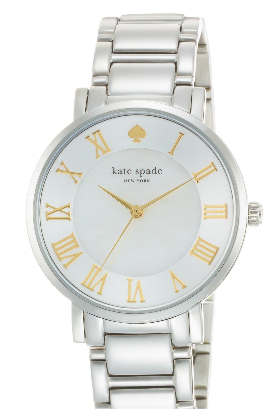 Main Image - kate spade new york 'gramercy grand' round bracelet watch, 38mm