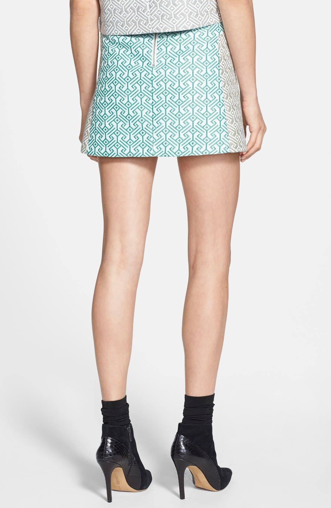 Alternate Image 2  - Topshop Colorblock Jacquard Skirt (Nordstrom Exclusive)