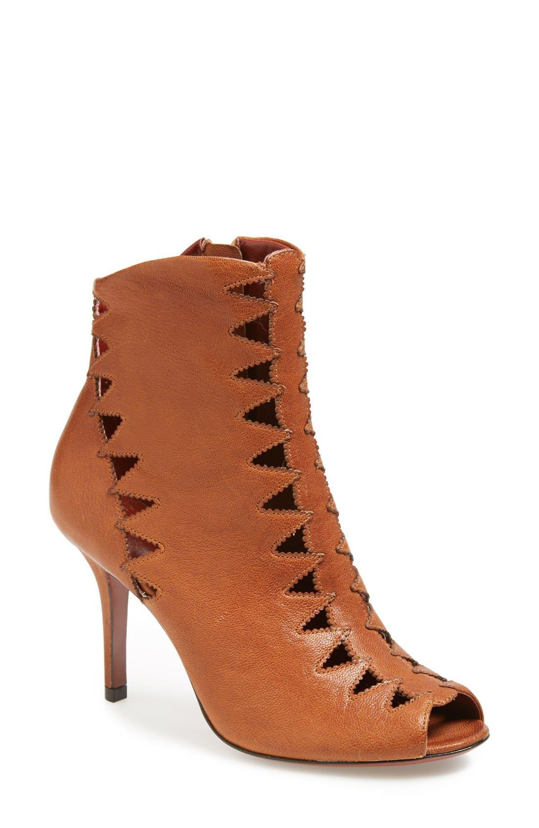Alternate Image 1 Selected - Aerin 'Carine' Peep Toe Leather Bootie (Women)