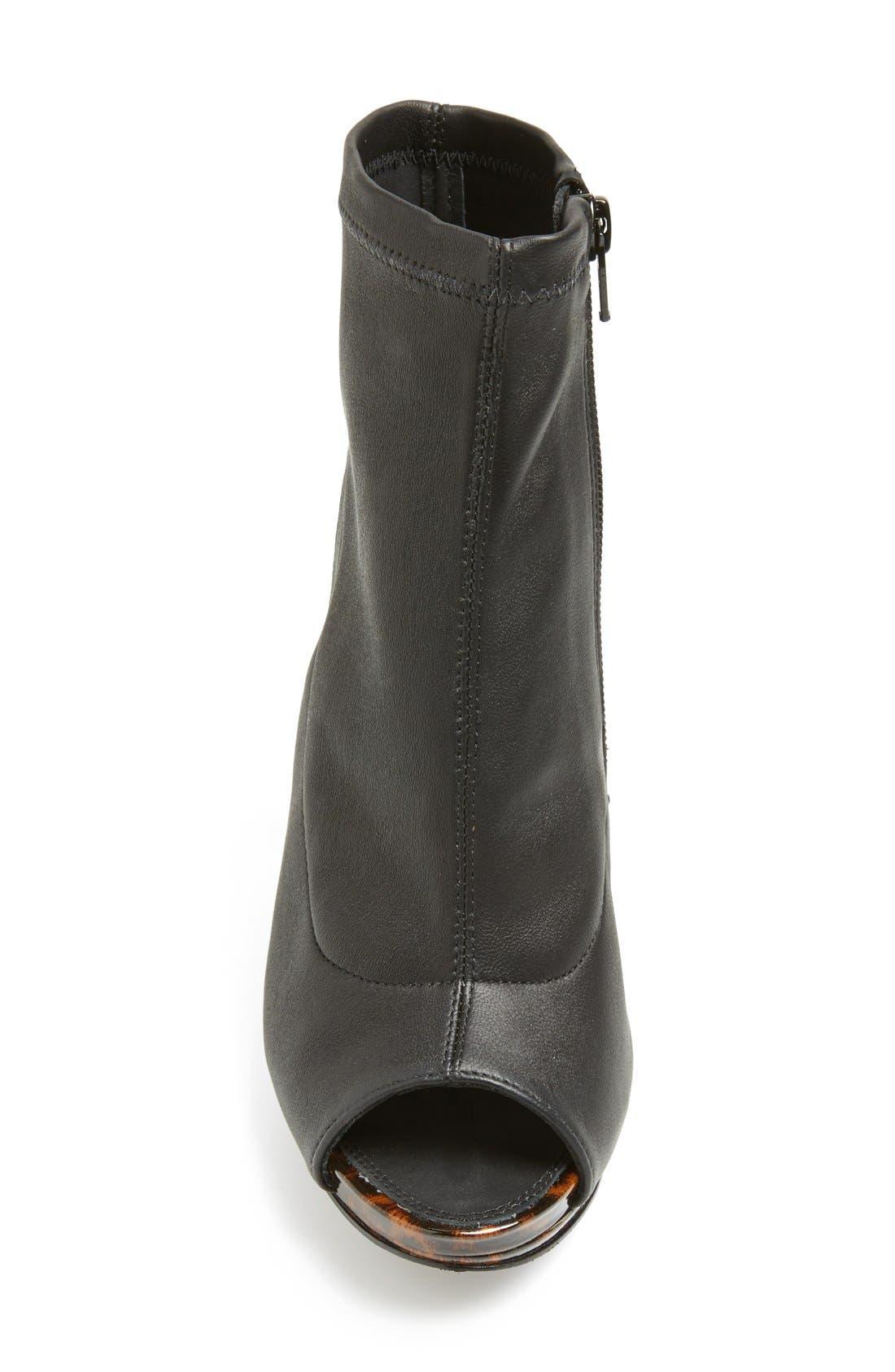 Alternate Image 3  - Diane von Furstenberg 'Armara' Peep Toe Stretch Leather Bootie (Women)