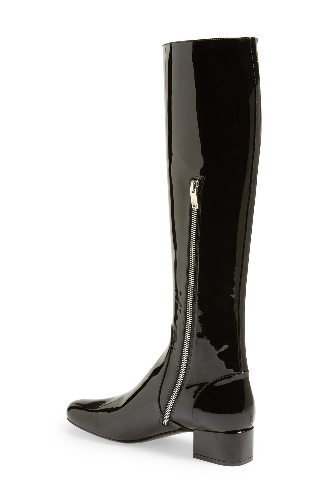 Alternate Image 2  - Saint Laurent Over the Knee Patent Leather Boot (Women)