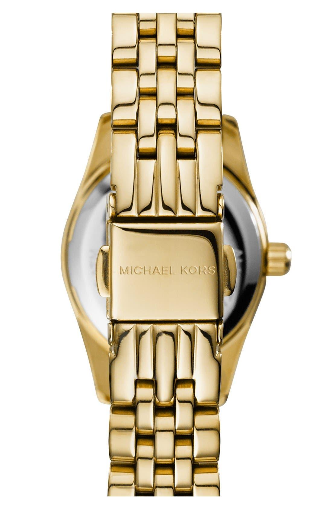 Alternate Image 3  - Michael Kors 'Petite Lexington' Pavé Dial Bracelet Watch, 26mm