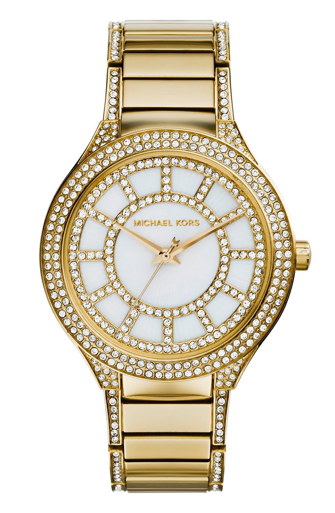 Main Image - Michael Kors 'Kerry' Crystal Accent Bracelet Watch, 38mm