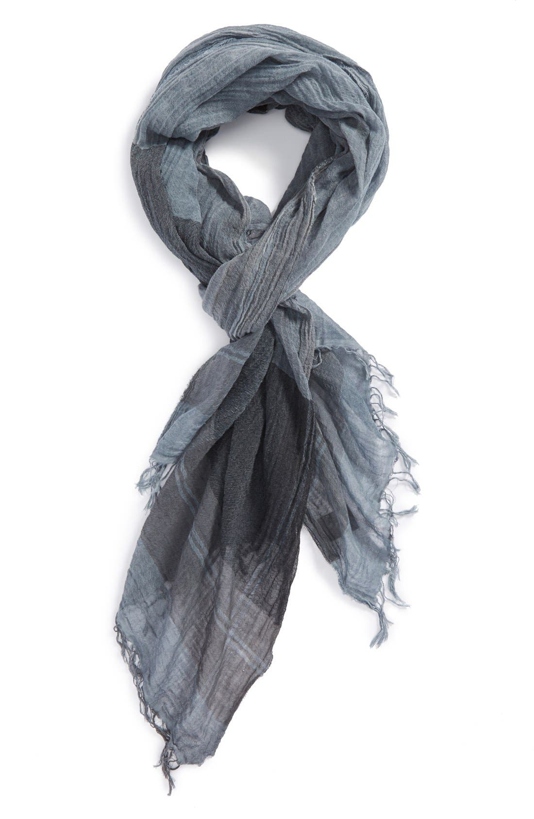 Alternate Image 1 Selected - John Varvatos Collection Colorblock Plaid Cotton Scarf