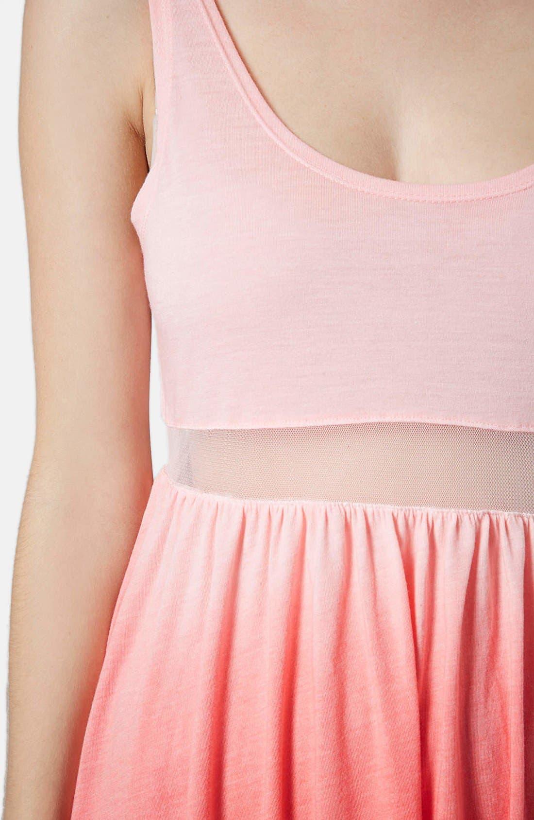 Alternate Image 4  - Topshop Mesh Inset Ombré Dress