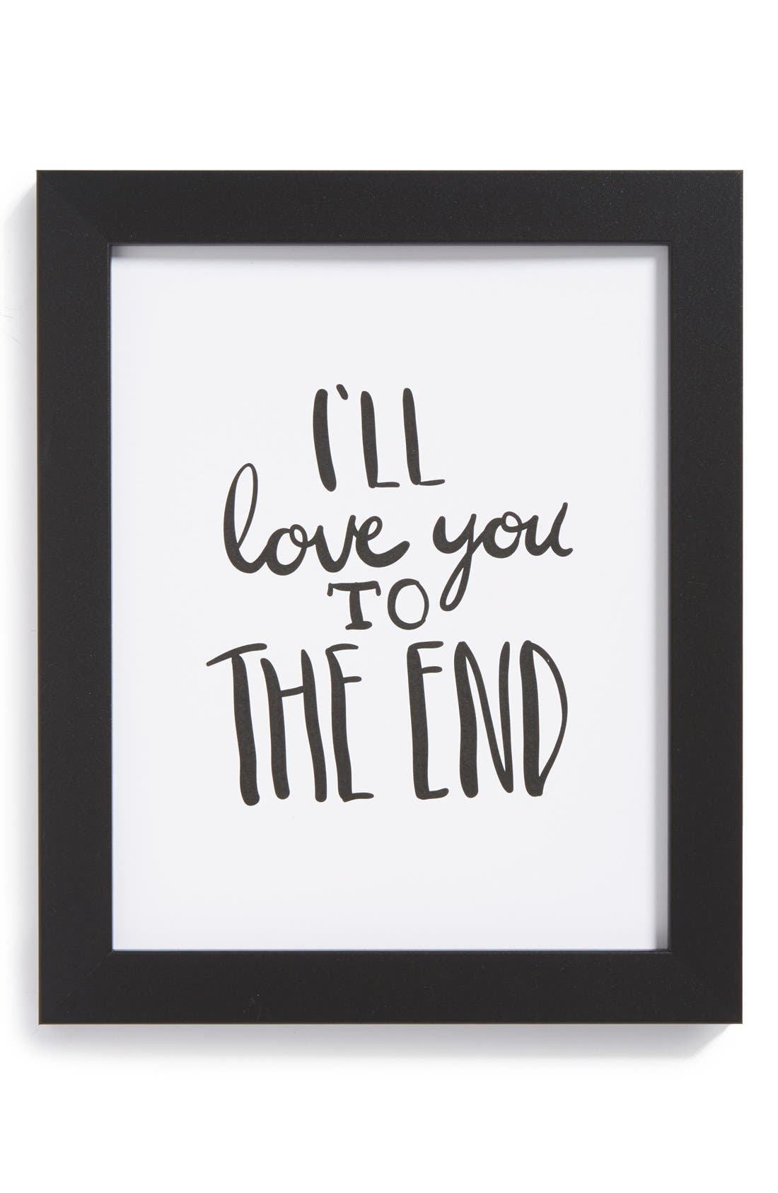 Main Image - The Oyster's Pearl 'I'll Love You to the End' Framed Print