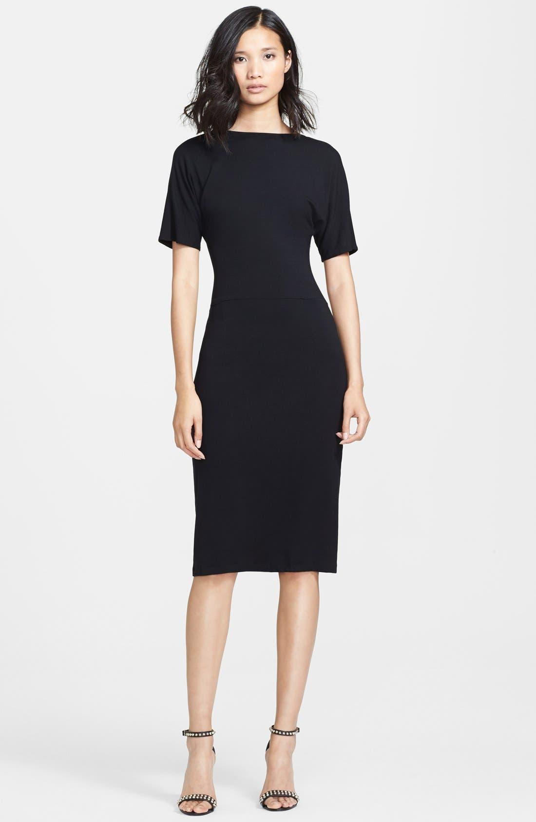 Alternate Image 1 Selected - Tamara Mellon Back Cutout Jersey T-Shirt Dress