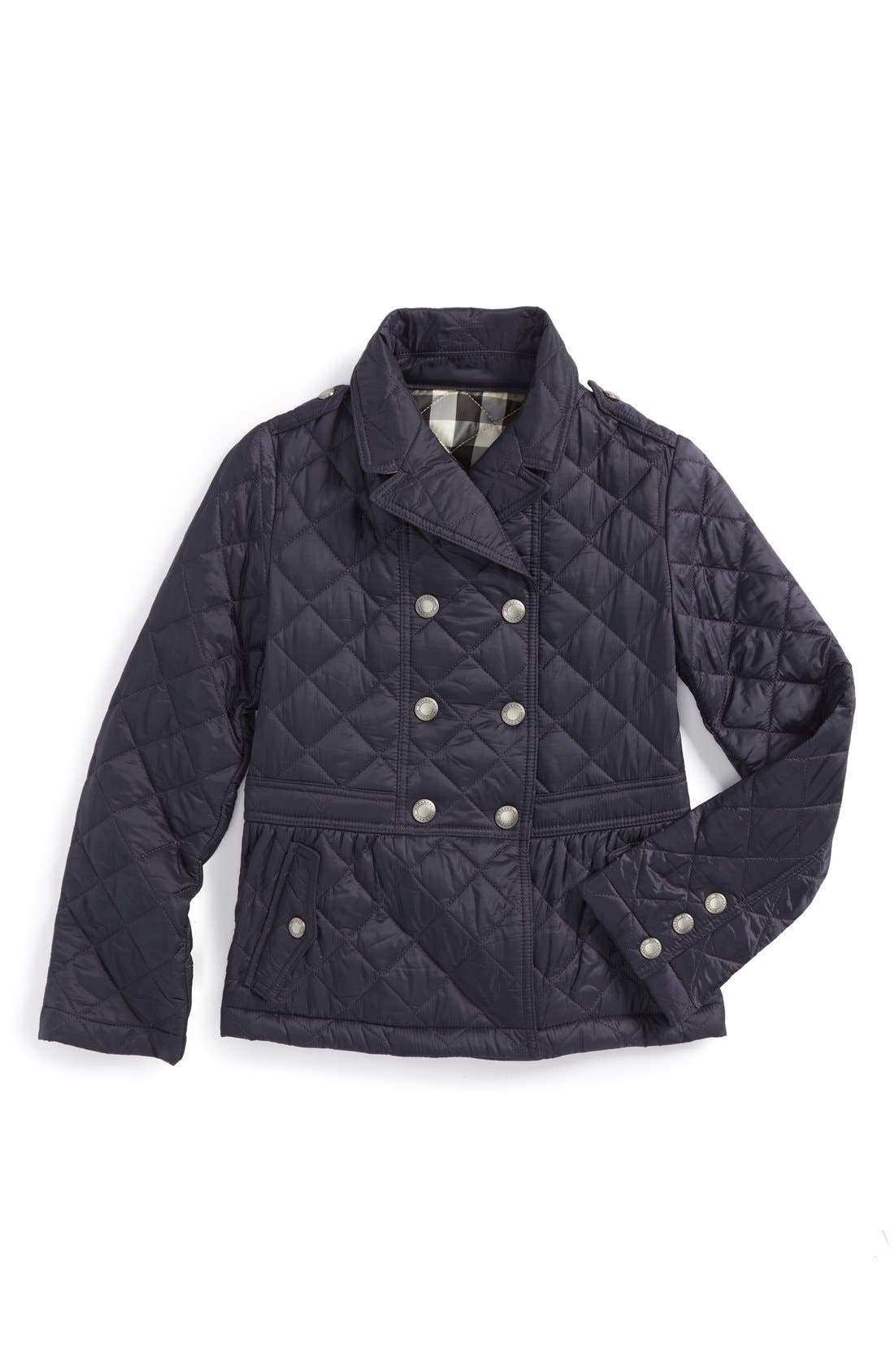Main Image - Burberry 'Portree' Quilted Jacket (Little Girls)