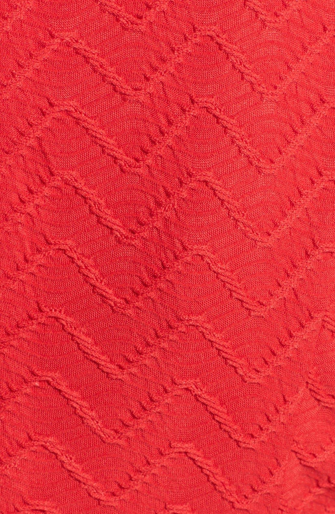 Alternate Image 4  - Eliza J Textured Knit Fit & Flare Dress (Petite)
