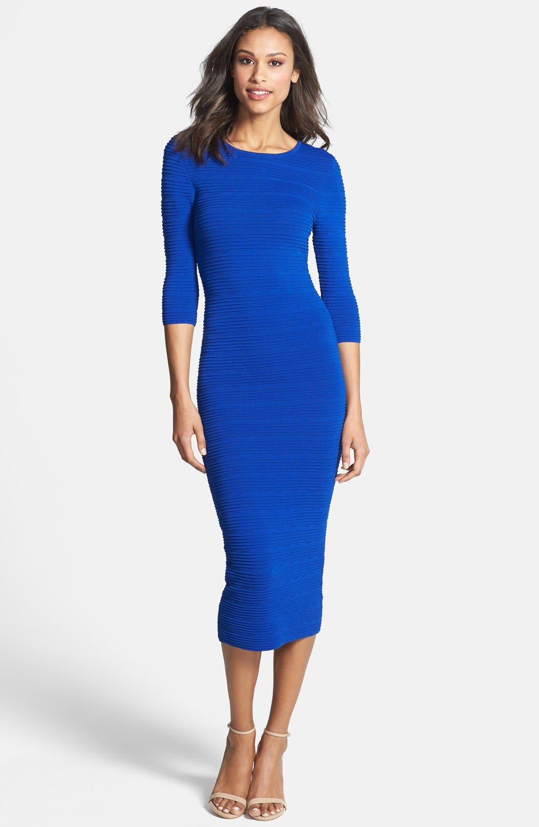 Alternate Image 1 Selected - Felicity & Coco Knit Body-Con Midi Dress (Petite) (Nordstrom Exclusive)