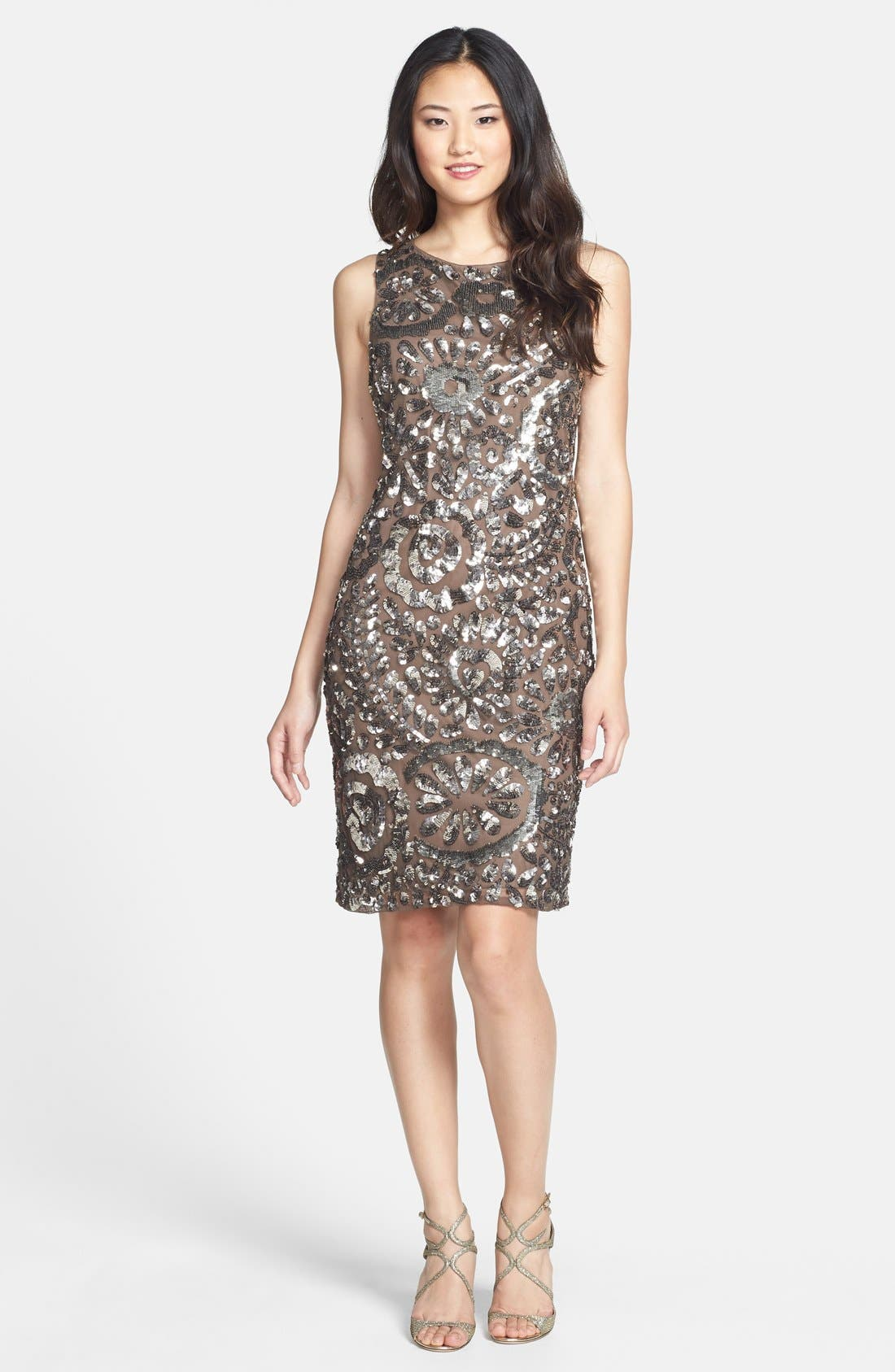 Alternate Image 3  - Pisarro Nights Sequin Sheath Dress