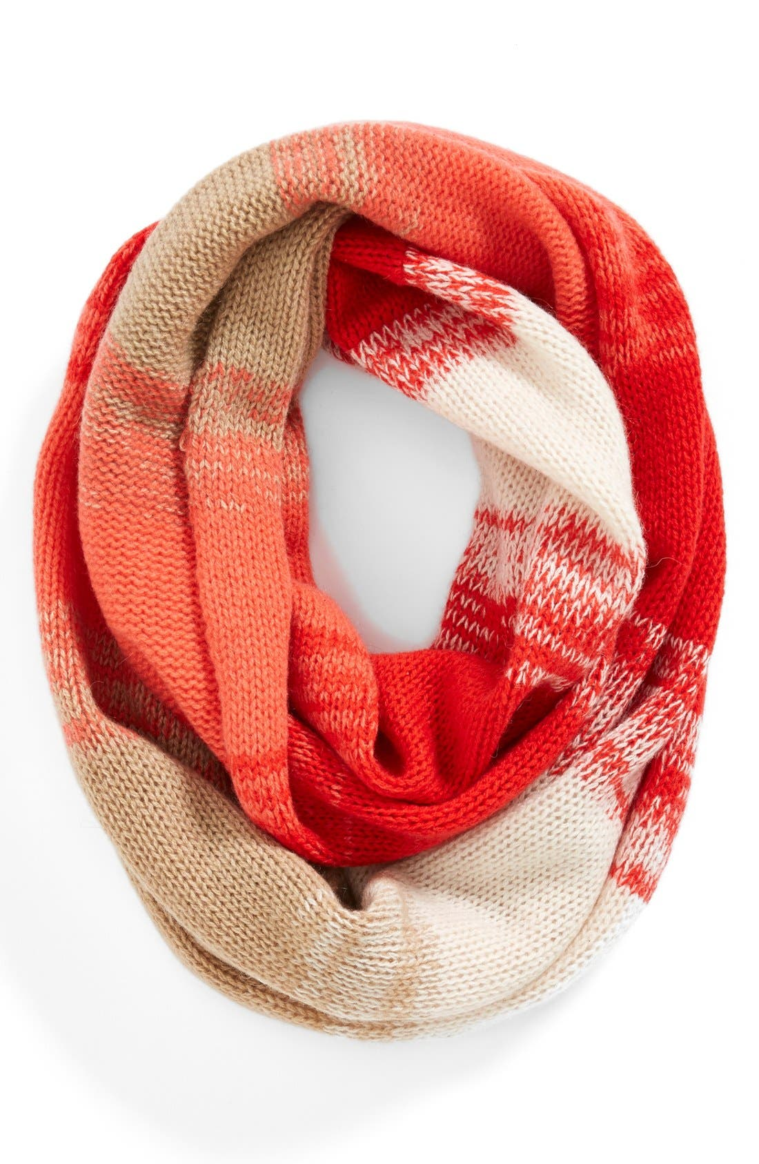 Alternate Image 1 Selected - Halogen® Stripe Cashmere Infinity Scarf