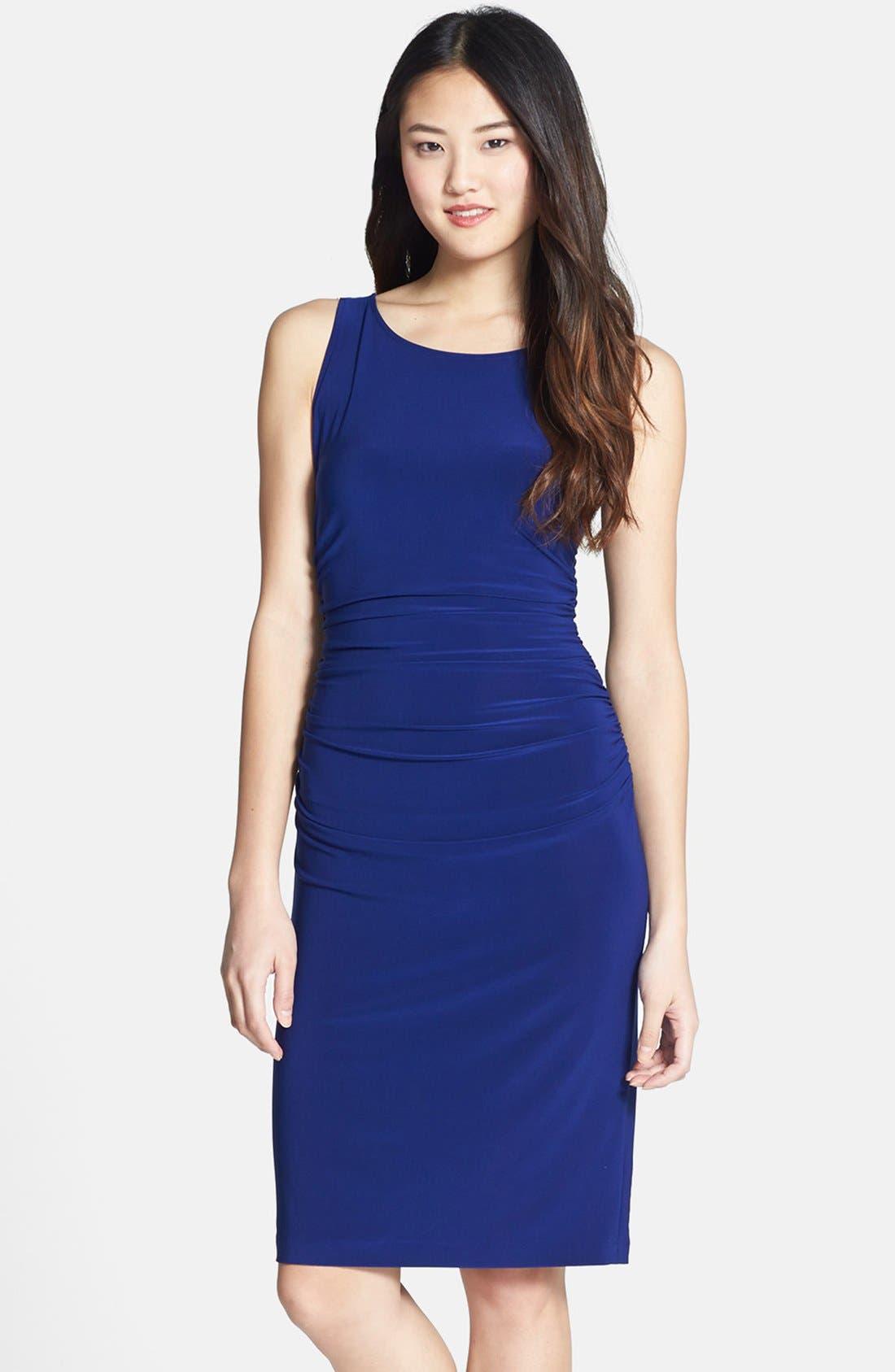 Alternate Image 1 Selected - KAMALIKULTURE Ruched Jersey Sheath Dress