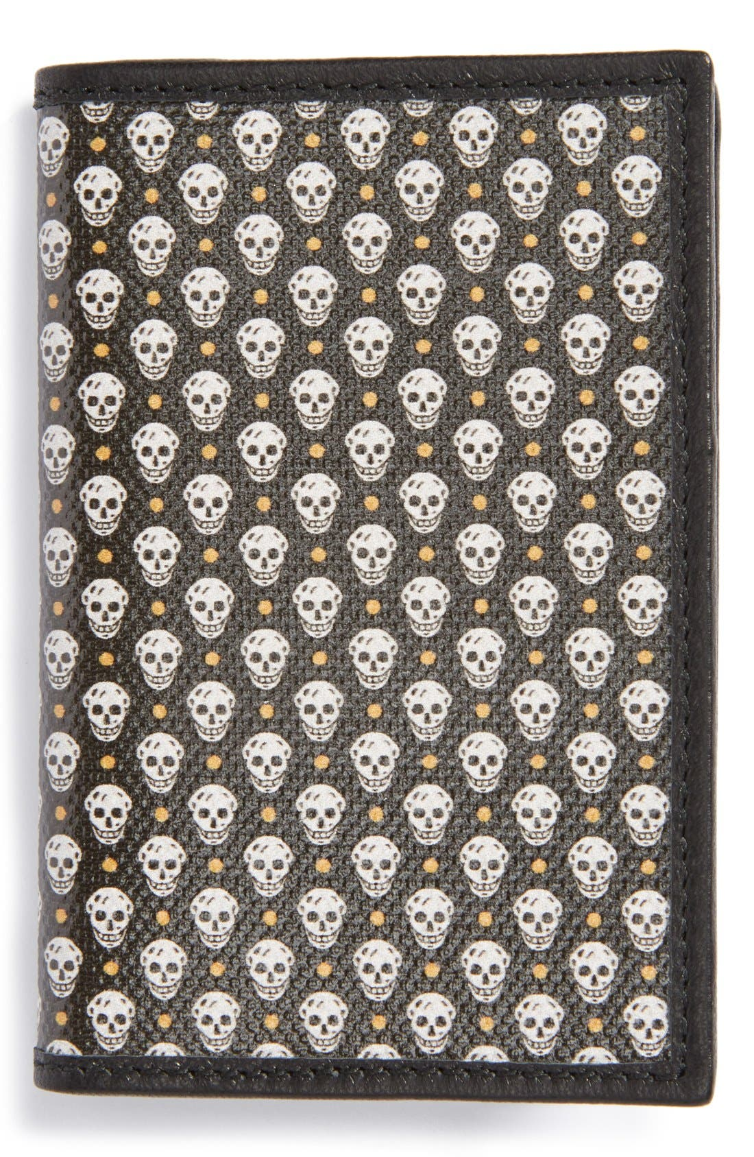 Alternate Image 1 Selected - Alexander McQueen Skull Print Leather Card Holder