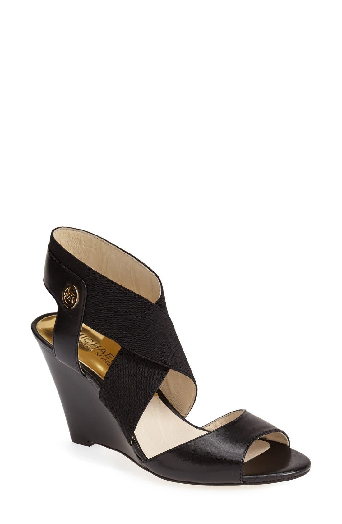 Main Image - MICHAEL Michael Kors 'Meadow' Wedge Sandal (Women)