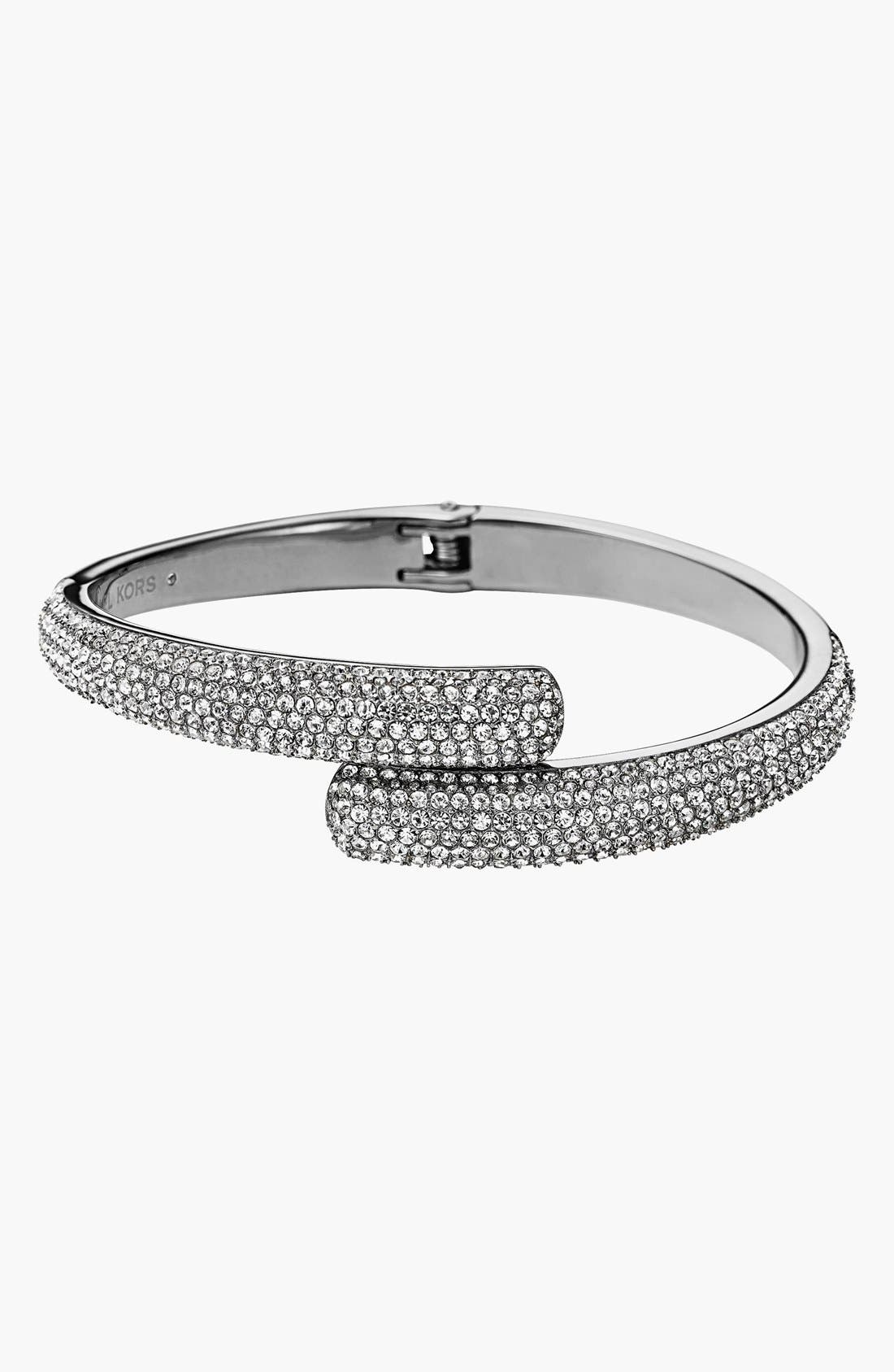 Alternate Image 1 Selected - Michael Kors Pavé Hinge Bangle