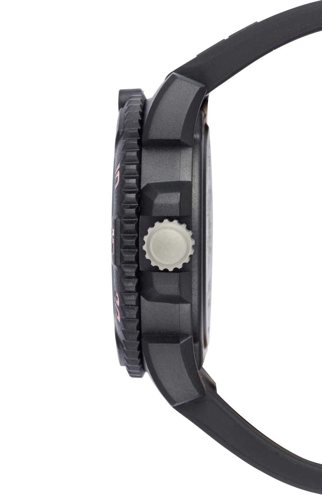 Alternate Image 3  - Luminox 'Sea - Navy SEAL Colormark' Silicone Strap Watch, 38mm