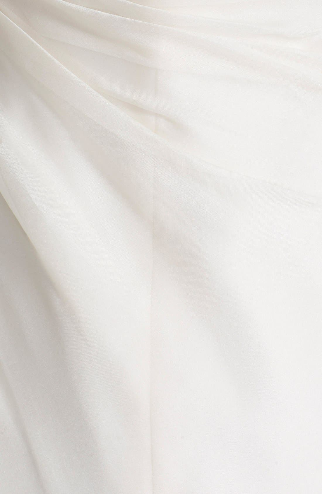 Alternate Image 3  - BLISS Monique Lhuillier Strapless Silk Organza Mermaid Wedding Dress (In Stores Only)