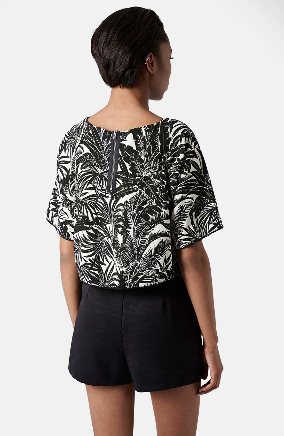 Alternate Image 2  - Topshop Tropical Print Raglan Tee