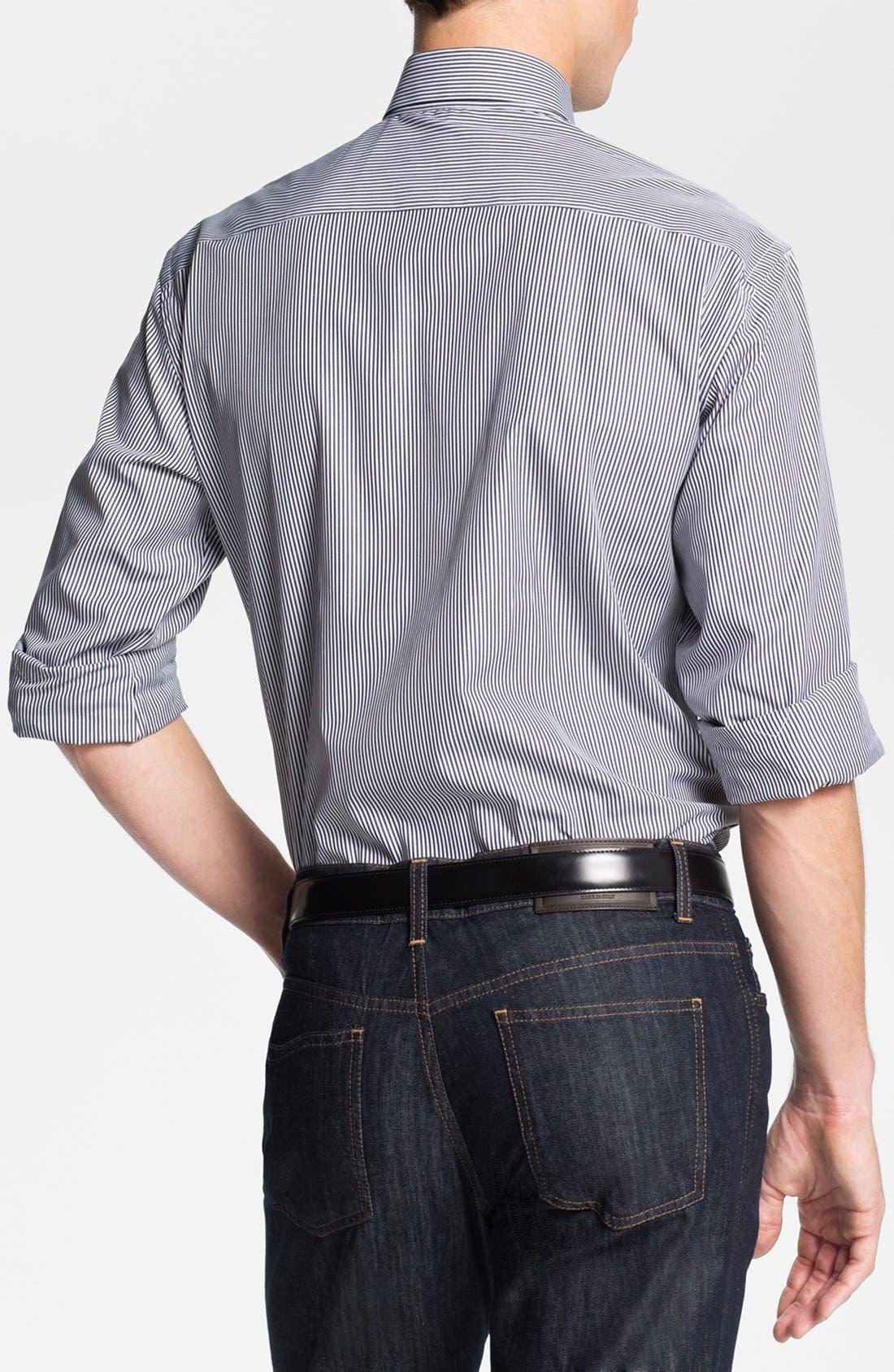 Alternate Image 2  - Salvatore Ferragamo Striped Sport Shirt