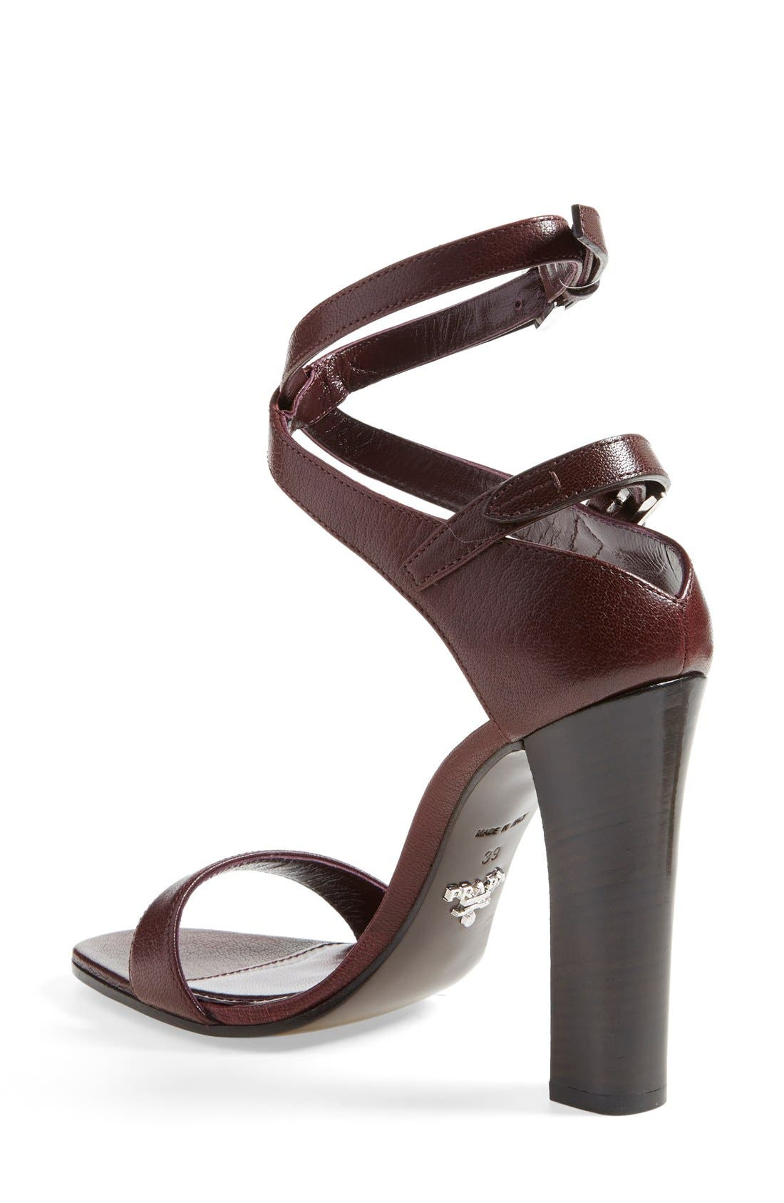 Alternate Image 2  - Prada Double Ankle Strap Sandal (Women)