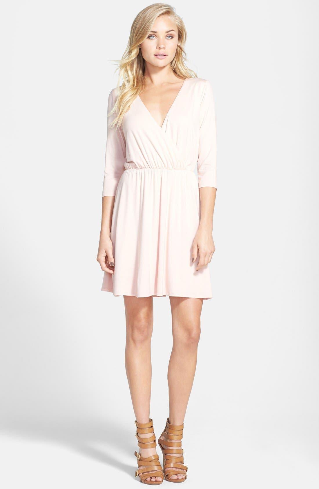 Main Image - June & Hudson Long Sleeve Open Back Dress